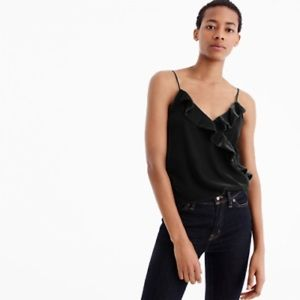 J.Crew Black Velvet Going-Out Top Size 10